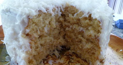 Coconut frosted cake