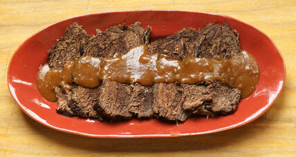 German sauerbraten: marinated roast beef with gingersnap gravy