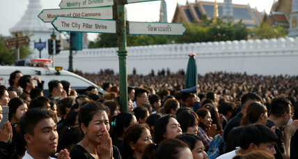 In Thailand, a divided country confronts loss of a royal unifying force