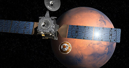 European Mars lander begins descent to Red Planet's surface