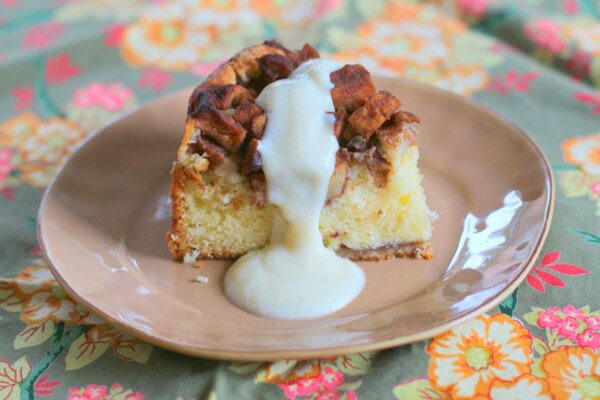 Apple cake with vanilla custard - CSMonitor.com