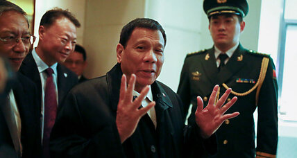 Duterte's diplomatic dance in China: How hard a pivot away from US?