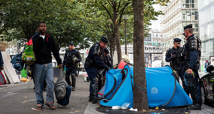 In Paris, refugee crisis puts new strain on city's homelessness problem