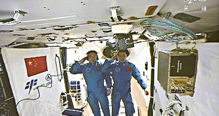Chinese astronauts arrive at Chinese space station