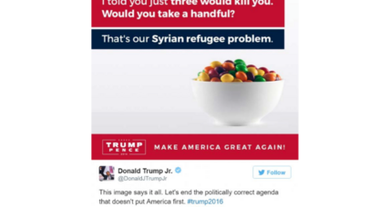 Artist sues Trump campaign over Skittles-as-refugees tweet