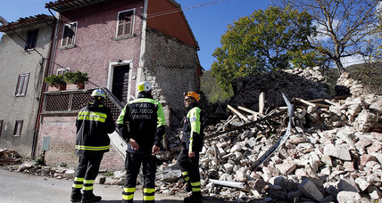 Powerful earthquakes rattle central Italy