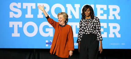 Clinton, Michelle Obama make tag-team appearace in bid for women's vote