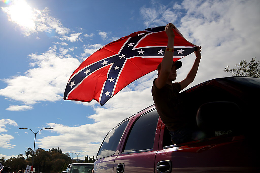 is the confederate flag constitutionally protected not at this high