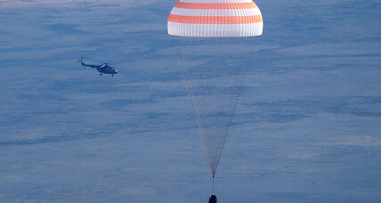 Soyuz capsule returns multinational astronaut crew to Earth