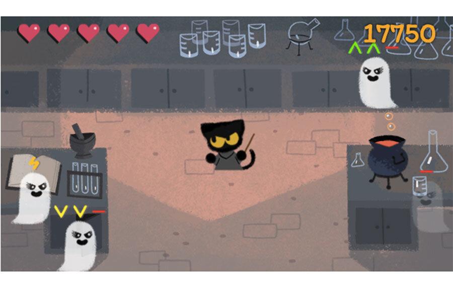 Google brews up an adorable kitten wizard game for Halloween ...