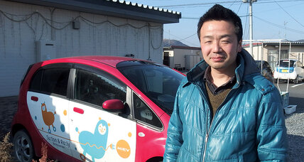 He hadn't driven much – but began a car-sharing project for tsunami survivors