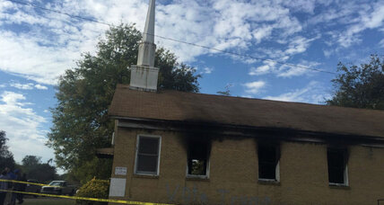 Mississippi black church burning: A sign of election unrest? (+video)