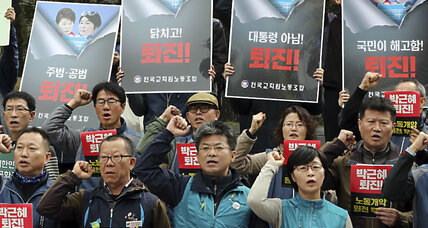 Street protests in Seoul: A push to remove President Park