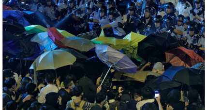 Thousands in Hong Kong protest Beijing intervention