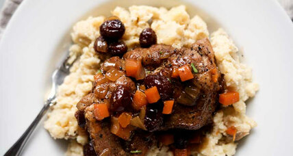 Maple cranberry braised pork