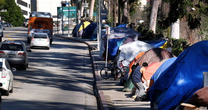 Does L.A.'s ban on sleeping in cars discriminate against the homeless?