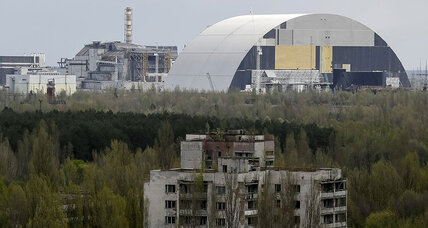 Giant shield begins sliding over Chernobyl reactor