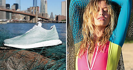Sportswear companies make fashion statement out of ocean trash