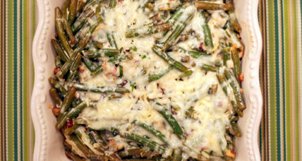 Green bean casserole with tarragon and hazelnuts