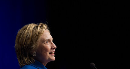 Reemerging after defeat, Clinton urges fight for 'big hearted' America