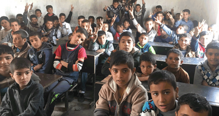 Iraqi children return to school, eager to shed ISIS 'language of violence'