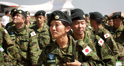 Japanese troops, now authorized to use force, arrive in South Sudan