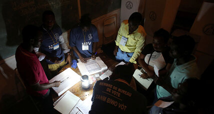 Still reeling from hurricane, Haiti counts votes in presidential election