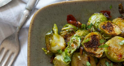 Thanksgiving side: Brussels sprouts with bacon and sweet chili sauce