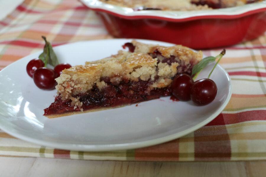 Holiday recipe swap: cherry cobbler pie