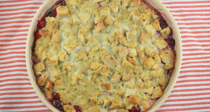 Thanksgiving leftovers: Cranberry turkey casserole