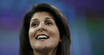 With Nikki Haley pick, Trump sends different message