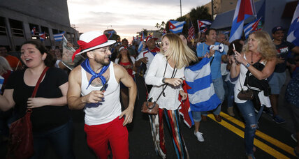 Miami's joyous Cubans hope for change with Castro's death