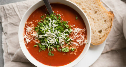 Roasted chili tomato soup