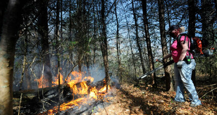 Historic droughts and warmer fall are driving unusual Southeast wildfires