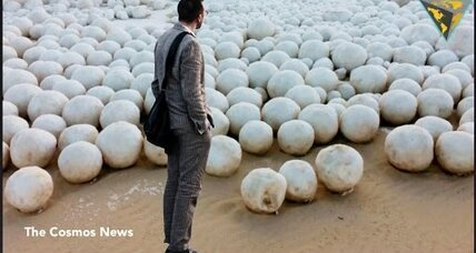 Mystery: Why are giant snowballs turning up on Russian beaches?