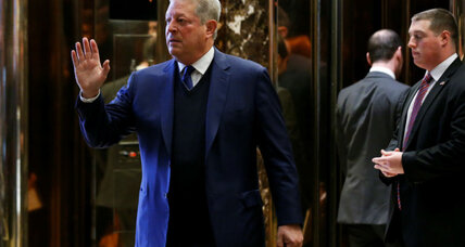 Al Gore calls meeting with Trump 'a sincere search' for common ground