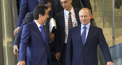 At Russia-Japan summit, end to WWII may not be in play – but a thaw might
