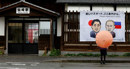 For Japan's Abe, a moment to end World War II with Russia?
