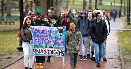 Boston high-schoolers stage anti-Trump walkout. A lesson in democracy?
