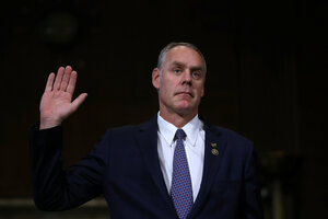 Interior Secretary nominee Rep Ryan Zinke talks climate change at
