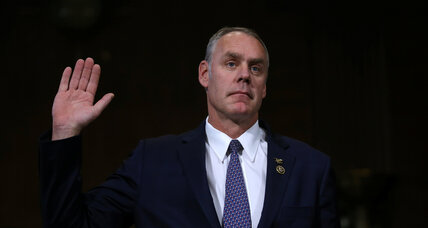 Interior Secretary nominee Rep. Ryan Zinke talks climate change at confirmation hearing