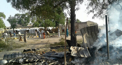 Nigeria military acknowledges mistake in accidental bombing of a refugee camp