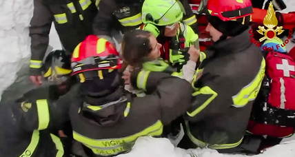 Italian avalanche: Rescuers find eight survivors – and a ray of hope