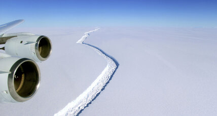 Larson C fracturing: Only 12 miles connect massive ice shelf to Antarctic