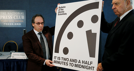 As 'Doomsday Clock' ticks closer to midnight, atomic scientists urge citizen action
