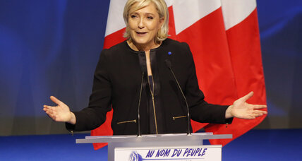 France's Le Pen launches election bid with vow to fight globalization