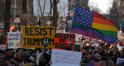 LGBT community, allies flock to Stonewall Inn to protest Trump's agenda
