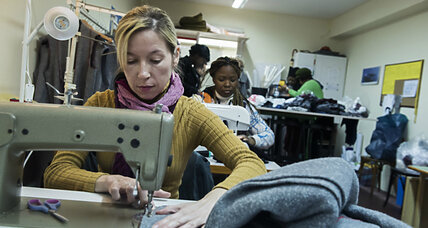 Amid a tough winter for refugees, charity turns old blankets into coats
