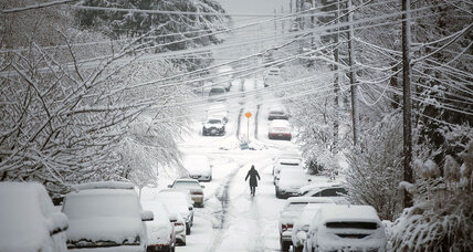 Rare snowfall blankets Seattle, closing schools and cutting power