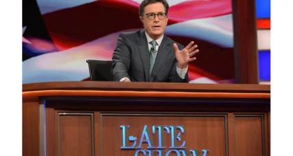 Do you win in late-night by focusing on Trump?